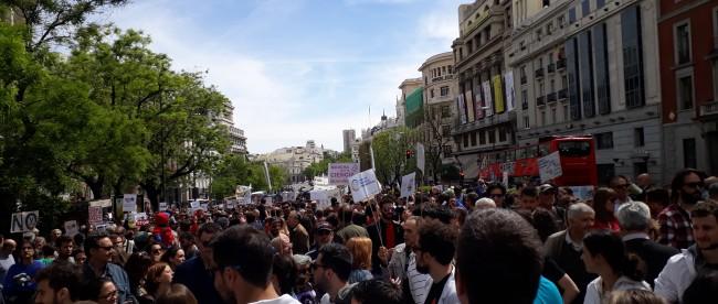 Marcha por la ciencia, Madrid. Iba llegando la gente